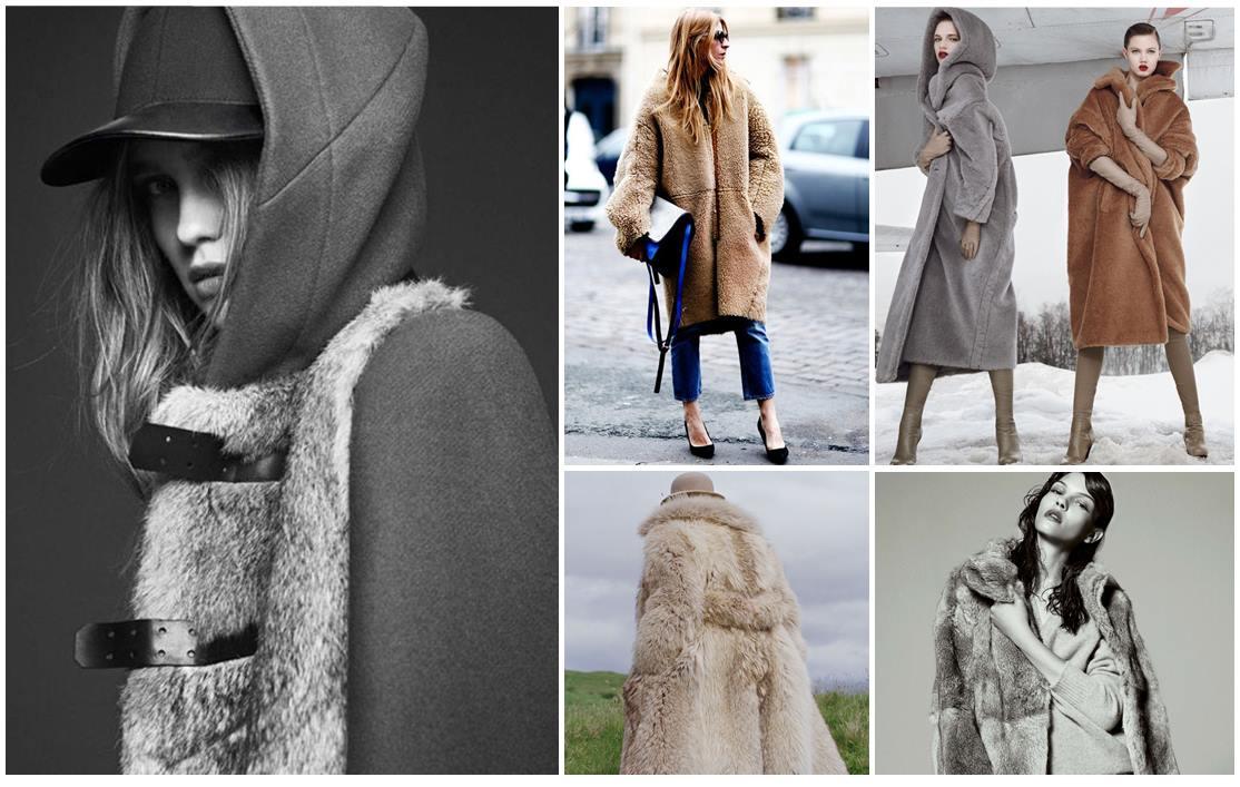 Prenda de abrigo hecha de piel