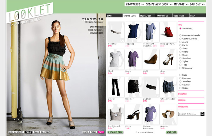 Looklet pretende acabar con la fotograf a e commerce Online fashion designer games