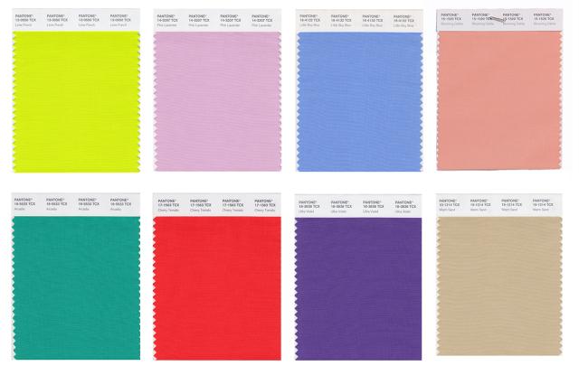 Pantone presenta la lista de los 12 principales colores de for Agenda pantone 2018